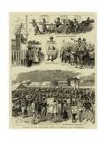 Racing in the East, Turf Notes at Umballa and Hong-Kong Giclee Print