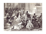 Children Returning from the Christmas Pantomime 1866 Giclee Print