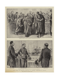 The Trial of Captain Dreyfus at Rennes, Sketches in Court Giclee Print