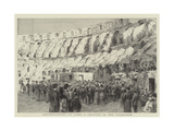 Archaeologists in Rome, a Lecture in the Colosseum Giclee Print