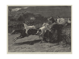 The Midnight Steeplechase Near Melton Mowbray, the Finish Giclee Print
