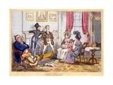 English Fireside, Pub. J. Lepetit, Dublin, C.1820 Giclee Print