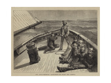 The Anglo-American Yacht-Race, on Board the Cambria Giclee Print