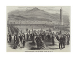 Presentation of Colours to the 109th Regiment at Aden Giclee Print