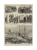 The Rioting in the West End of London, 8 February Giclee Print