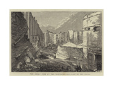 The Great Fire at Pantechnicon, View of the Ruins Giclee Print