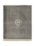 Bible Given by Miss Burdett Coutts to Freemasons Giclee Print