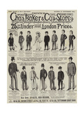 Advertisement, Charles Baker and Co's Stores Giclee Print