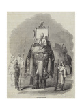 The Raja of Putteella, on His State Elephant Giclee Print