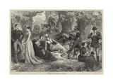 A Picnic in the Cork Woods, Near Gibraltar Giclee Print