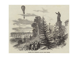 Ascent of M Poitevin's Balloon from Nantes - Giclee Baskı