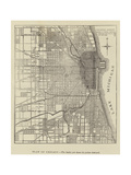 The Burning of Chicago, Plan of Chicago Giclee Print