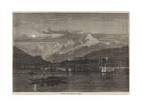 Shooting Grebe on the Lake of Geneva Giclee Print