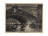 A Fete at Venice, the Rialto Giclee Print