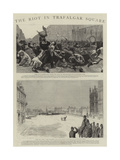 The Riot in Trafalgar Square Giclee Print