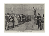 The Recent Rioting in London Giclee Print