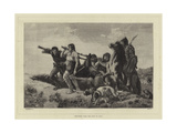 Returning from the Hunt in Gaul Giclee Print