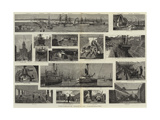 Portsmouth Dockyard Illustrated Giclee Print