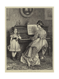 The Duet, a Drawing Room Study Giclee Print
