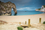 Durdle Door Arch in Jurassic Coast in Dorset, UK Photographic Print by  merc67