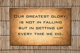 JustASC - Our Greatest Glory - Confucius Quote Fotografická reprodukce