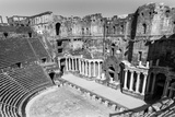 Roman Theatre at Bosra, an Ancient Roman Theatre in Bosra, Syria. (In Black and White) Photographic Print by  siempreverde22