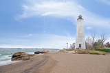 Five Mile Point Lighthouse in New Haven CT Photographic Print by  beyond_a_snapshot