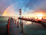 Lighthouse at Lake Neusiedl - Austria Photographic Print by  TTstudio