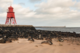 Herd Groyne Lighthouse in South Shields Photographic Print by Patrik Stedrak