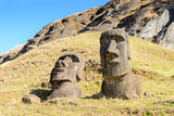 Moai in the Rapa Nui National Park, Easter Island, Chile, South America Photographic Print by  siempreverde22