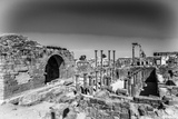 Roman Ruins North of the Citadel (In Black and White). City of Bosra, Syria. UNESCO World Heritage Photographic Print by  siempreverde22