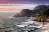Heceta Head Lighthouse at Sunset Photographic Print by  jpldesigns