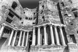Roman Theatre (In Black and White) at Bosra, an Ancient Roman Theatre in Bosra, Syria. Photographic Print by  siempreverde22