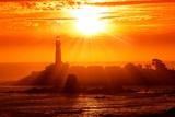 California Lighthouse Sunset Photographic Print by Tomasz Zajda