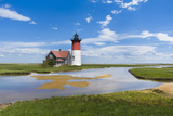 Light House on Cape Cod, Ma. USA Photographic Print by Christian Delbert