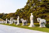Statues on the Road to the Tombs of Ancient Koguryo Kingdom, Pyongyang, North Korea Photographic Print by  siempreverde22