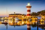 Hilton Head, South Carolina, USA Lighthouse at Twilight Fotografisk tryk af  SeanPavonePhoto