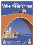 Unsere Mittelmeerfahrten (Our Mediterranean Cruises) - (Hamburg-American Line) Prints by Albert F?ss