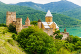 Ananuri Castle, a Castle Complex on the Aragvi River in Georgia Photographic Print by  siempreverde22