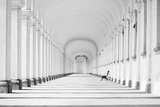 Long Baroque Colonnade in Black and White Tone Photographic Print by  grondetphoto