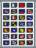 Nautical Flags Alphabet Affischer av  glisic_albina