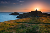 Strumble Head Lighthouse at Sunset Photographic Print by  Spumador