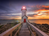 Lighthouse in Gloucester, Ma. USA Photographic Print by Christian Delbert
