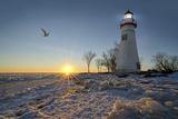 Marblehead Lighthouse Sunrise Photographic Print by Michael Shake