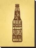 KitchenBar_Beer Impressão em tela esticada por Jilly Jack Designs