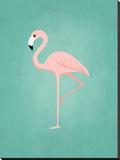 PalmSprints_Flamingo Impressão em tela esticada por Jilly Jack Designs