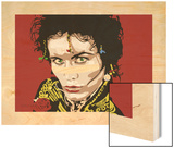 Adam Ant Wood Print by Emily Gray