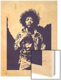 Jimi Hendrix - Purple Haze Print by Emily Gray