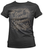 Juniors: Waylon Jennings - Good Hearted Woman T-shirts