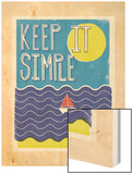 Keep it Simple Wood Print by Dale Edwin Murray